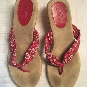 Bandana Print Sandals